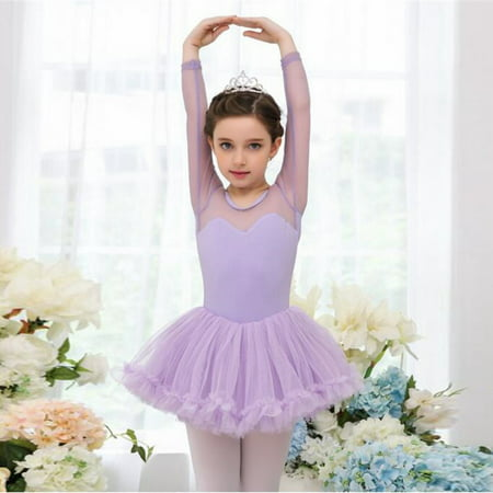 Princess Girls Kids Ballet Tutu Gymnastics Leotard Skirt Tutu Dance Dress - Princess Dresses For Children