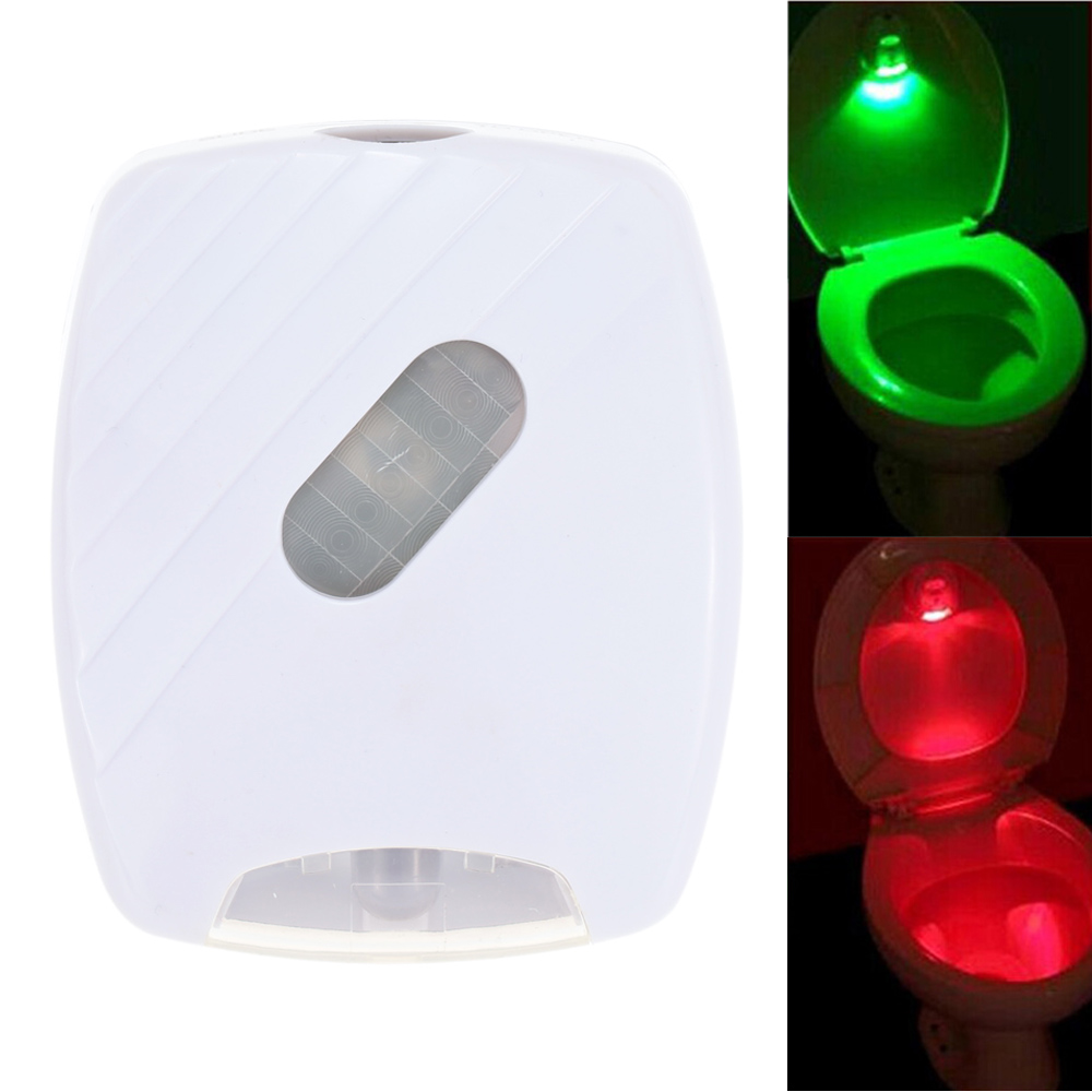 Led Human Motion Activated Pir Light Sensor Toilet Lamp Battery Operated Led Night Light Bathroom Use Red And Green Light Walmart Com Walmart Com