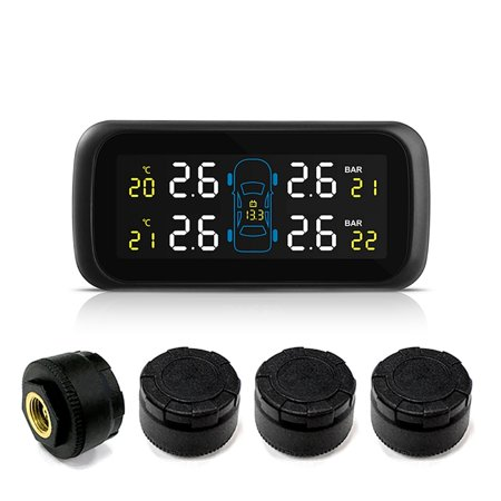Universal Multifunction Car TPMS Tire Pressure Color Display Car Cigarette Lighter Direct Power Supply TPMS Car Tire Pressure Monitor Real-time Highly Accurate TPMS