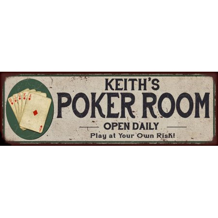 - Kelly's Poker Room Game Metal Sign 6x18 Rusty Man Cave Decor G61803983