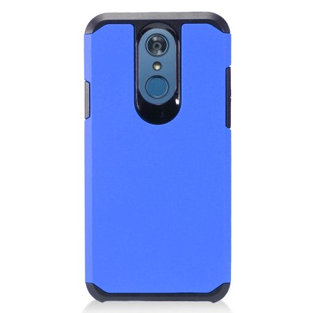 MUNDAZE For LG Q7 | Q7 Plus | LG Q7+ Slim Double Layered Case Blue