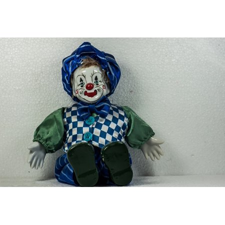 Canvas Print Funny Smile Doll Colorful Clown Stretched Canvas 10 x 14](Clown Dolls)