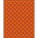 "1"" Round Brilliant Orange Labels for Laser Printers, Inkjet Printers or Copier Machines. (GLC100BO)"