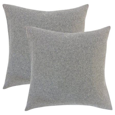 Set Of 2 Eire Solid Throw Pillows In Grey