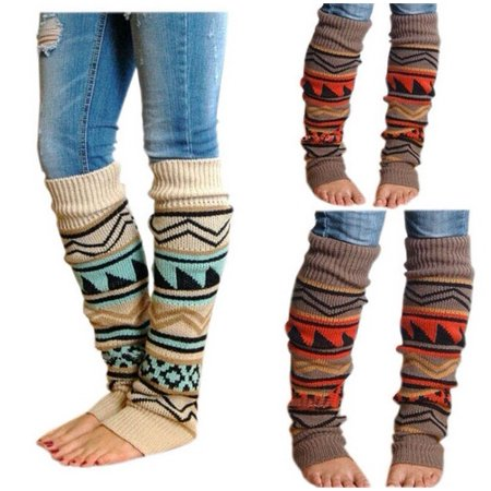Hot New Fashion Women Knee High Christmas Socks 1 Pairs Holiday Fun Stocking Stuffers - image 3 of 5