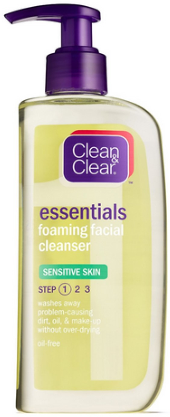 2 Pack - CLEAN & CLEAR Foaming Facial Cleanser Sensitive Skin 8 oz sensual solutions set: cleanser 45ml + wrinkle filler 14.2g + wrinkle erase 48g