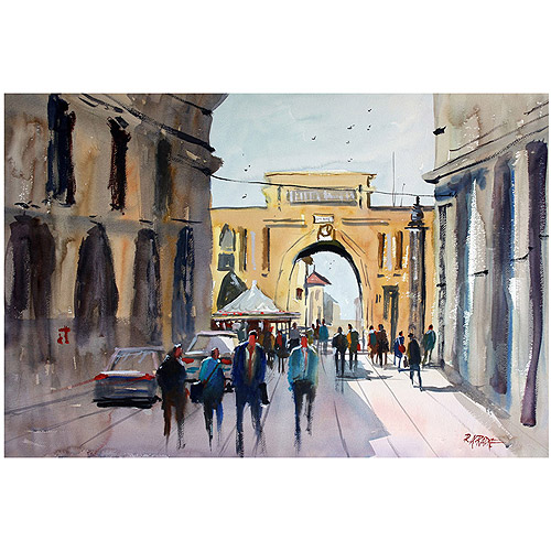 "Trademark Art ""Italian Impressions IV"" Canvas Art by Ryan Radke"