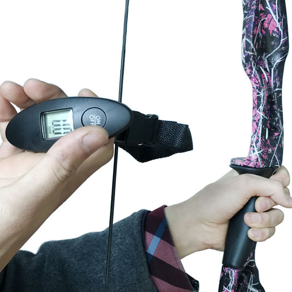 Archery Digital Bow Hanging Scale 110lbs Black for Recurve Compound Bows