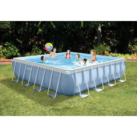 intex 16 x 16 x 48 square prism frame above ground pool with