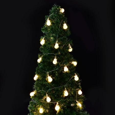 Goplus Christmas LED String Ball Lights Xmas Wedding Party Decor Fairy Lamp Warm White