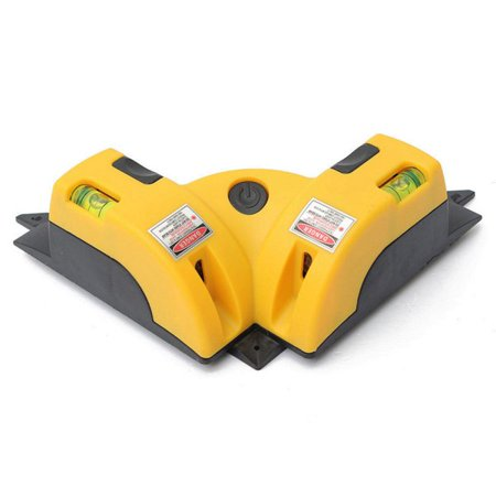 Right Angle 90 degree Vertical Horizontal Laser Line Projection Square Level Laser with Two Suction