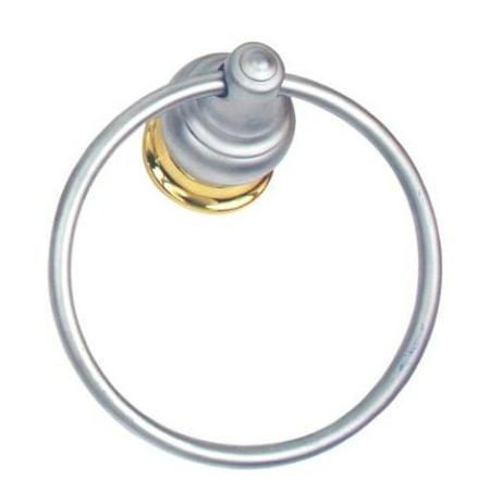 Moen Decorator Platinum/Polished Brass Towel Ring #4786PMP