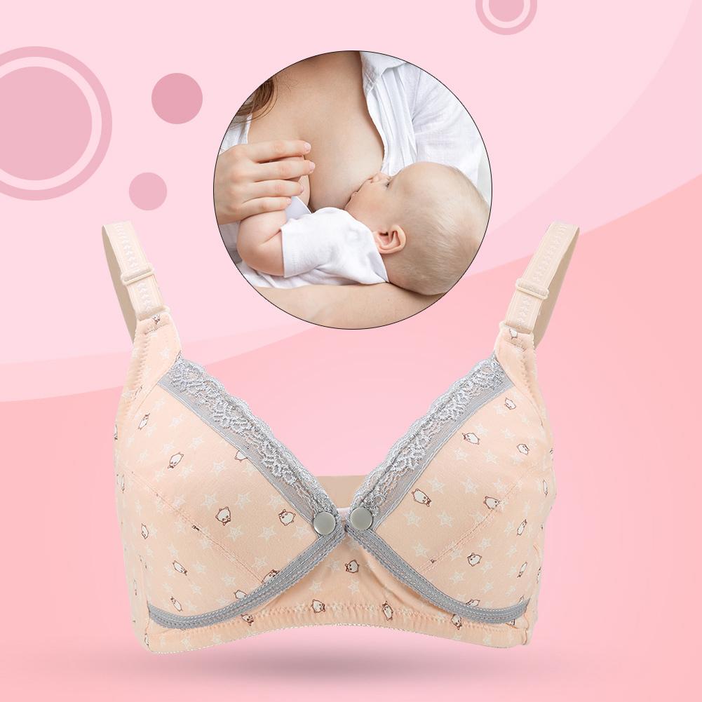 Yosoo Women Soft Cotton No Wire Maternity Bra Pregnant Underwear Breastfeeding Nursing Bras,Maternity Bra, Nursing Bras