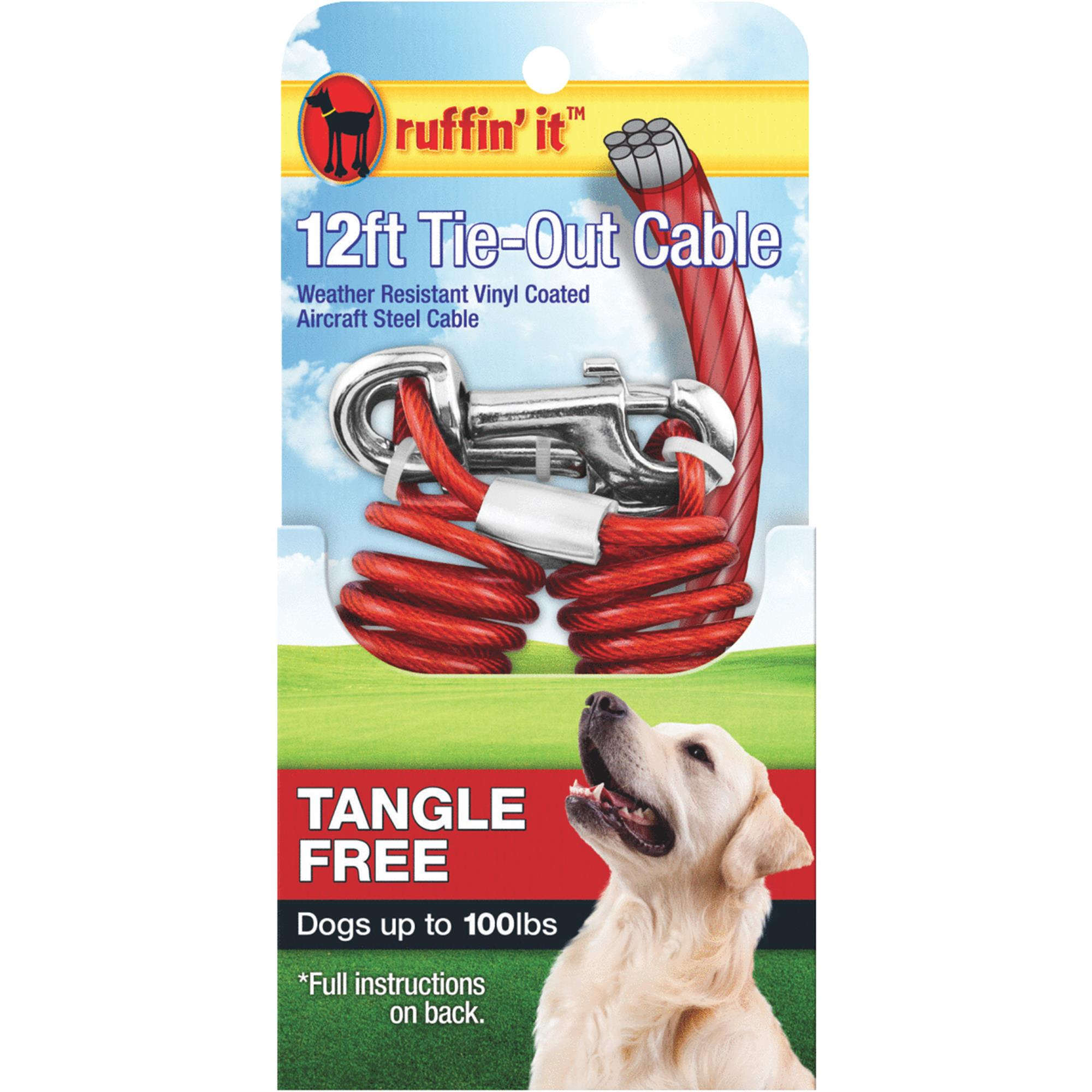 Tangle-Resistant Dog Tie-Out Cable