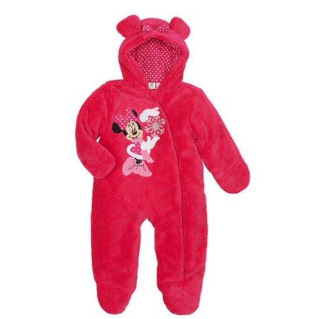 075a4e4e7 Disney - Disney Infant Girls Plush Pink Minnie Mouse Snowsuit Baby Pram Snow  Suit 6m - Walmart.com