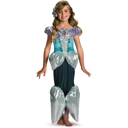 Child Deluxe Disney The Little Mermaid Princess Ariel Shimmer Costume](Little Mermaid Custom)