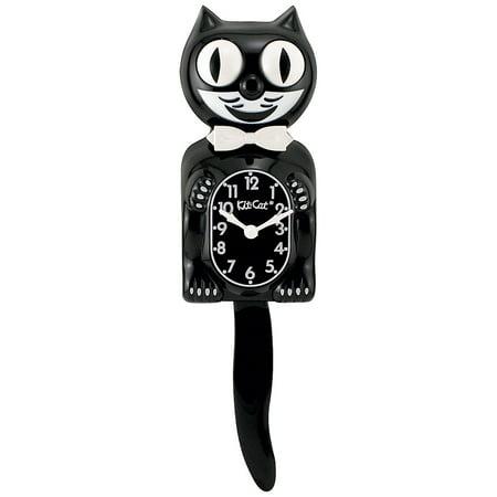 Califoria Clock Co Kit-Cat Klock w/ Rolling Eyes & Pendulum Tail Retro Black