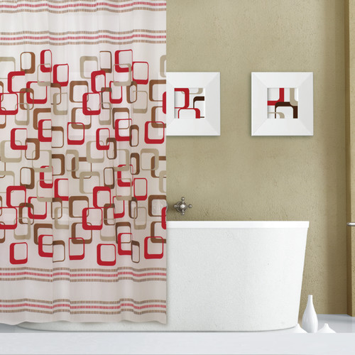 Dainty Home Abstract Shower Curtain Set