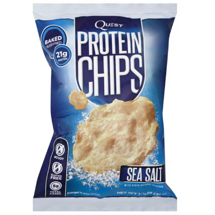 Quest Sea Salt Protein Chips, 1.125 oz, (Pack of 6)