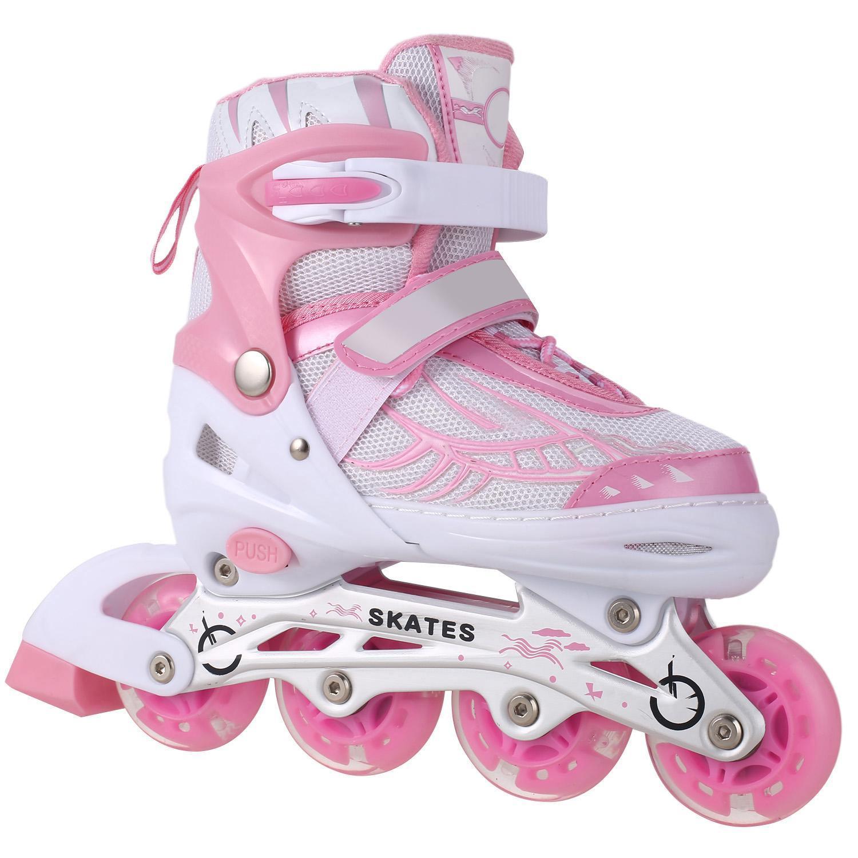 Adjustable Inline Skates Roller blades Light up Safe and Durable Inline Roller Skates for Kids Children