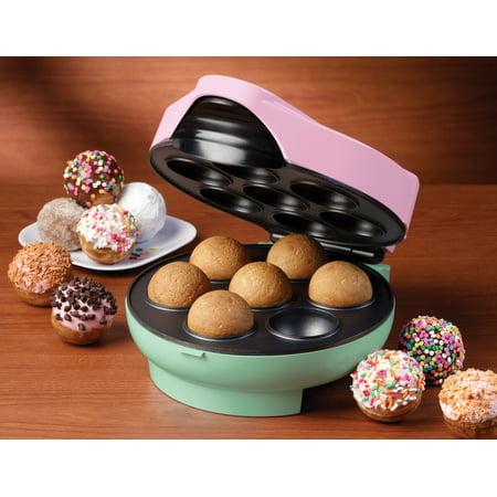 Nostalgia JFD100 Cake Pop & Donut Hole Bakery with 25 Bamboo Sticks