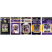 CandICollectables VIKINGS614TS NFL Minnesota Vikings 6 Different Licensed Trading Card Team Sets