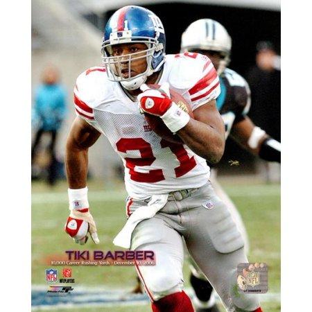 Tiki Barber - 2006 10000 Career Rushing Yards With Overlay Photo Print