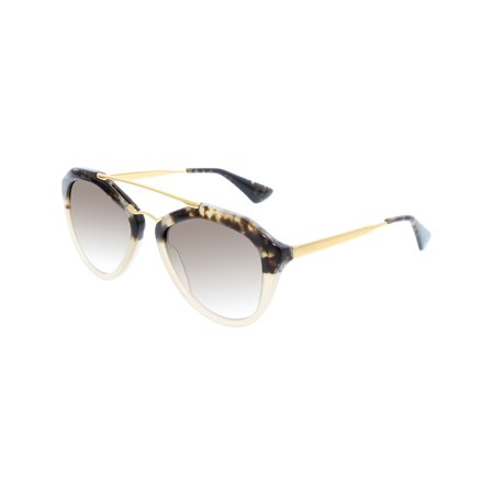 Prada Women's Gradient PR12QS-ROZ0A6-54 Brown Aviator Sunglasses