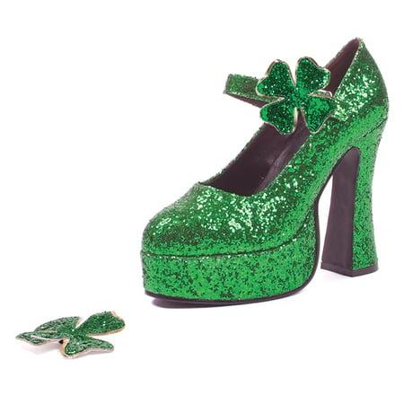 Green Glitter Womens Mary Jane 5.5
