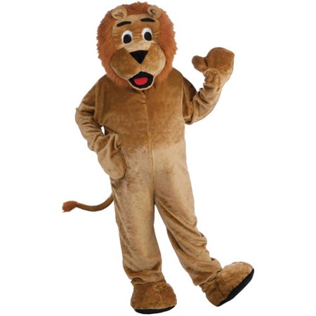 Lion Mascot Adult Halloween Costume, Size: Men's - One Size