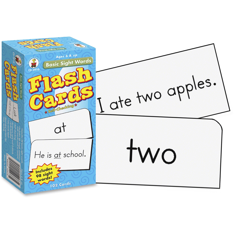 Carson-Dellosa, CDPCD3910, Grades 1-3 Basic Sight Words Flash Card Set, 1 / Pack, Multi