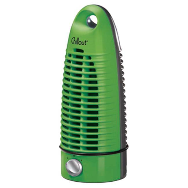 Helen Of Troy Codml GF-7A 2 Speeds Chillout Tower Fan, Green & Black