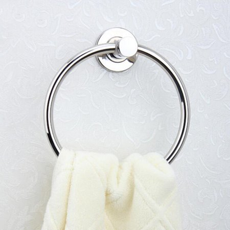 Stainless Steel Bath Towel Holder Hand Towel Ring Hanging Towel Hanger Bathroom Accessories Contemporary Hotel Round Style Wall Mount ()