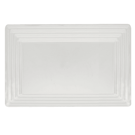 Kaya Collection - White Plastic Serving Tray Heavyweight Rectangular Platter 11