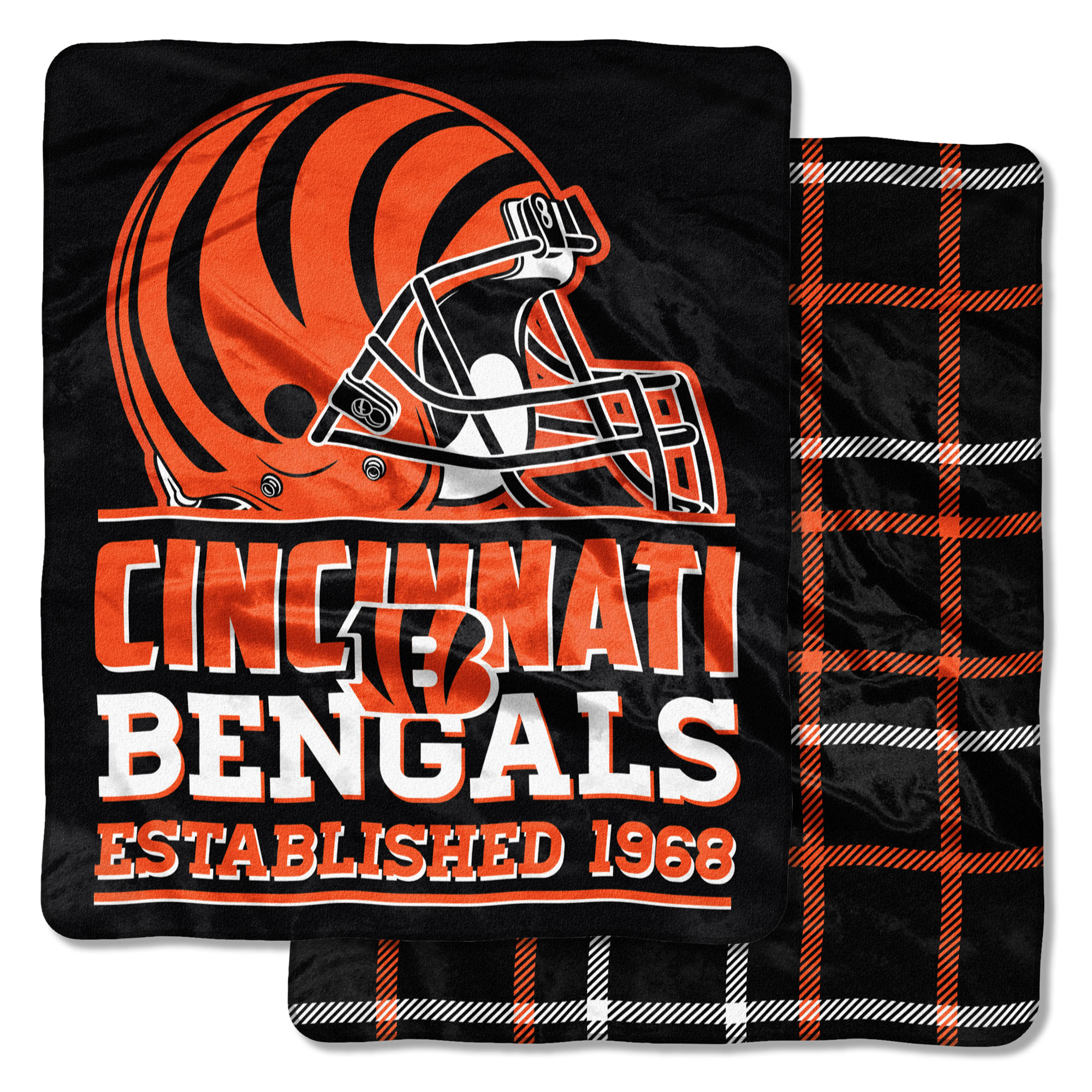 "Cincinnati Bengals The Northwest Company 50"" x 60"" Home Field Double Sided Cloud Blanket - No Size"