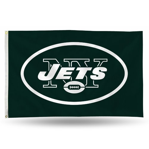Rico Industries NFL 3' x 5' Banner Flag, New York Jets