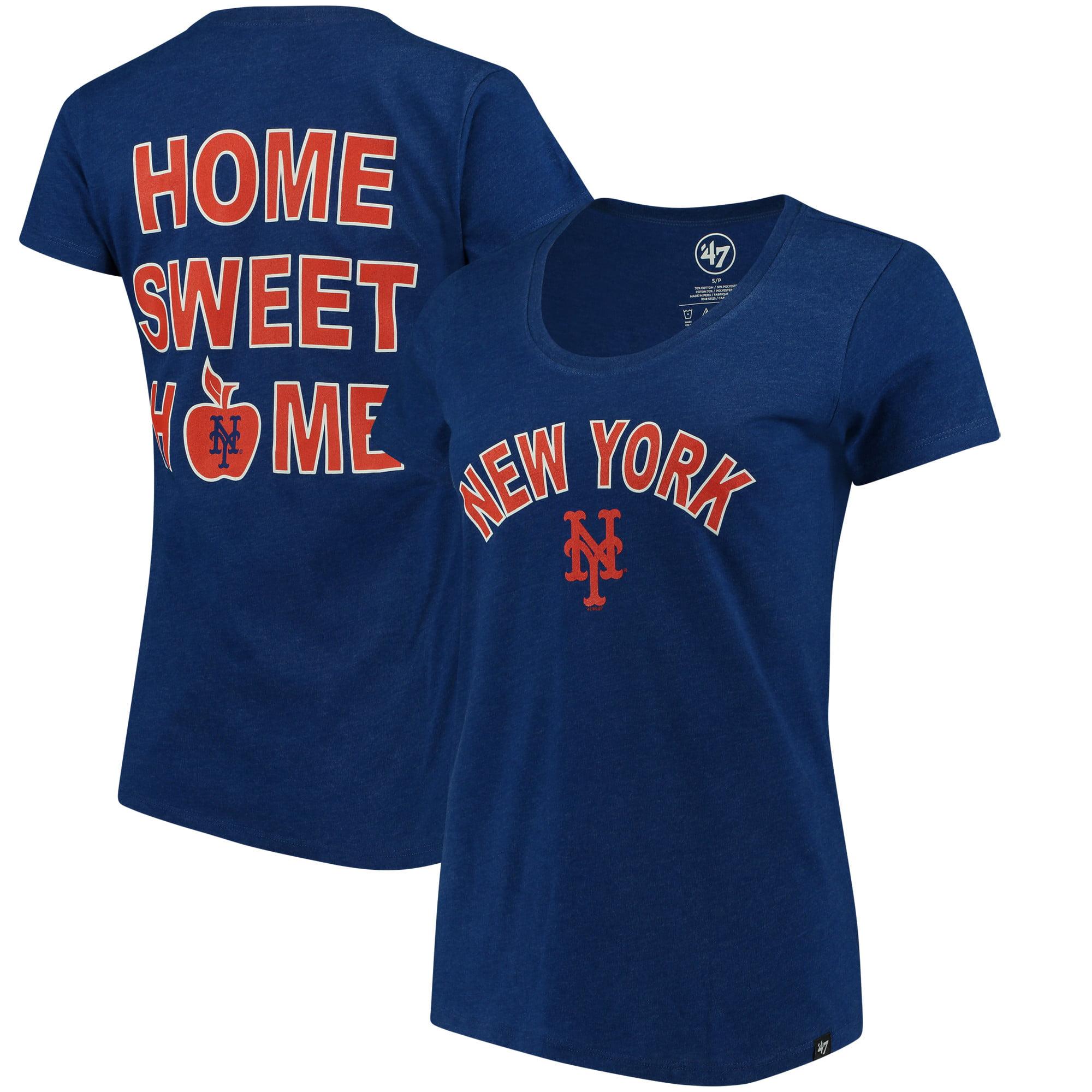New York Mets '47 Women's Club Scoop Neck T-Shirt - Royal