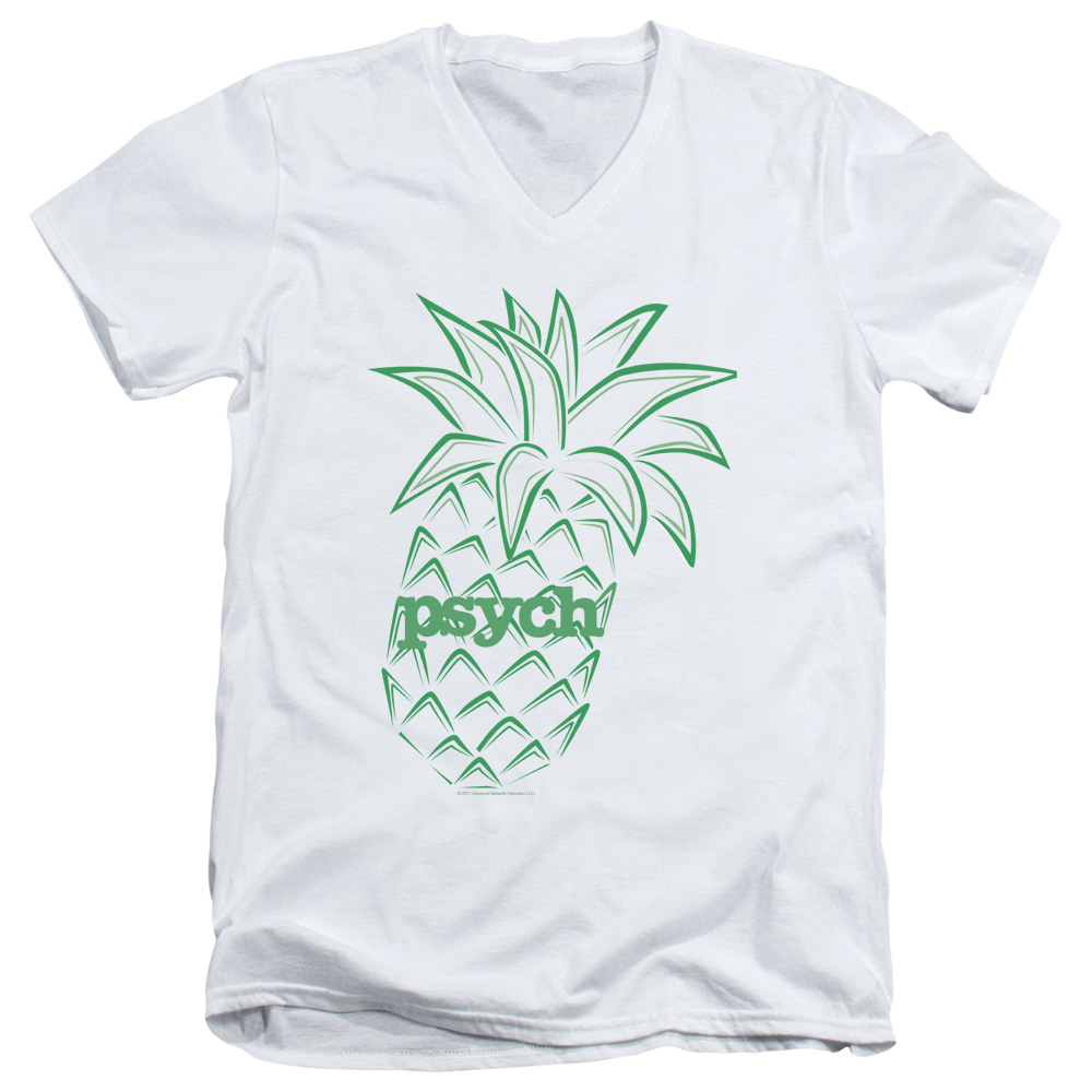 Psych Pineapple Mens V-Neck Shirt