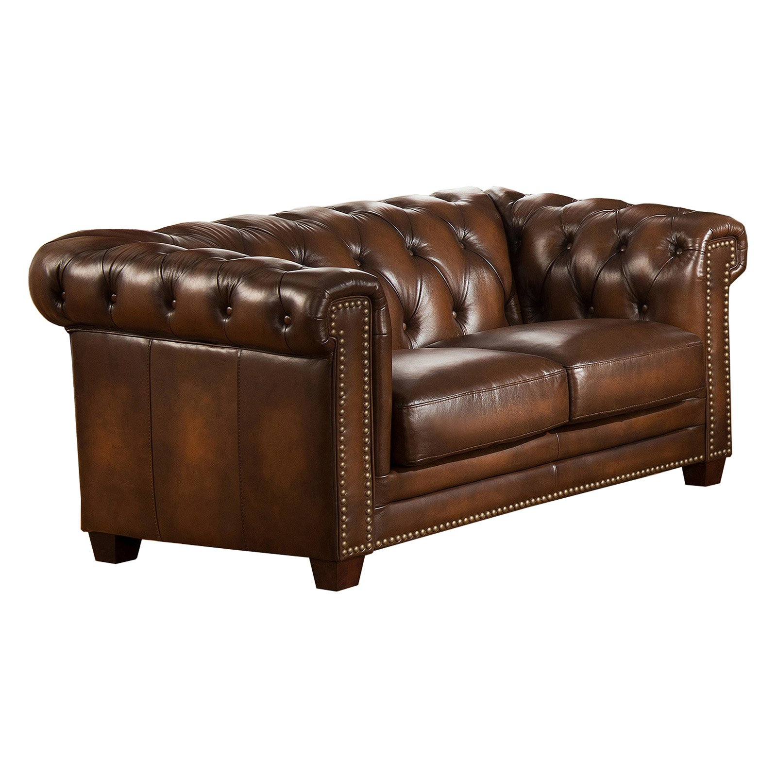 Amax Leather Stanley Park II Top Grain Leather Loveseat