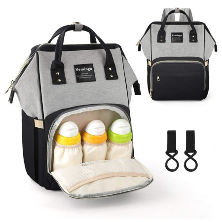 Vemingo Diaper Bag Backpack Multi Function Waterproof Maternity Baby Nursing Ny Back Pack For Boy On Travel With Stroller Straps Large
