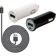Kanex Charge and Sync Lightning to USB Cable and 2.1-Amp USB Car Chargers