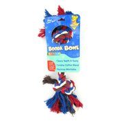 Petmate Doskocil Co. Inc. 2-Knot Rope Bone Dog Toy, Multicolor, Extra Large