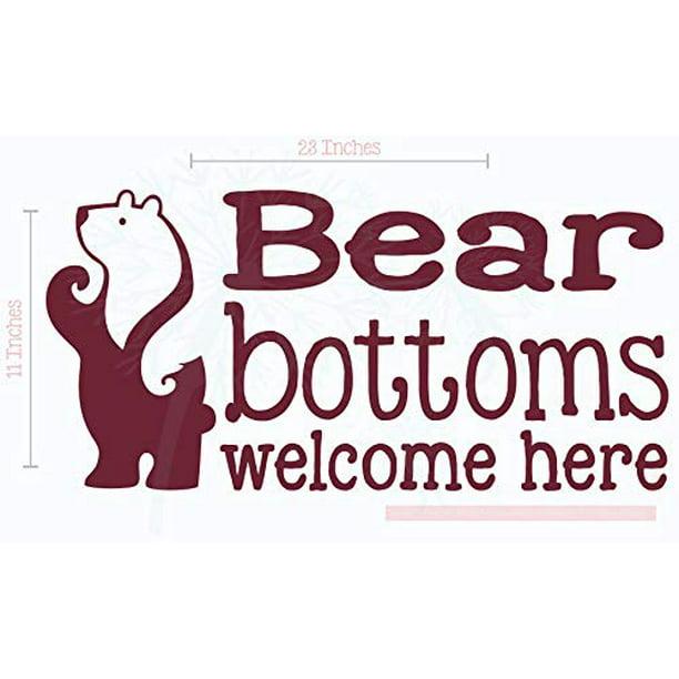 Bear Bottoms Welcome Here Vinyl Lettering Art Wall Decals Stickers Camper Decor Quote 23 X 11 Burgundy Walmart Com Walmart Com