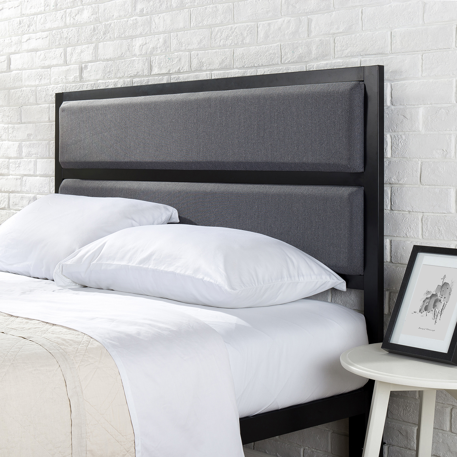 Mainstays Upholstered Metal Headboard, Multiple Sizes