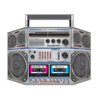 Pack of 6 Rockin' 80's Cassette Player Boom Box Stand-Up Party Decorations 37""