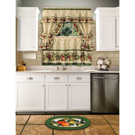 August Grove Andrea 5 Piece Apple Orchard Cottage Window Curtain Set