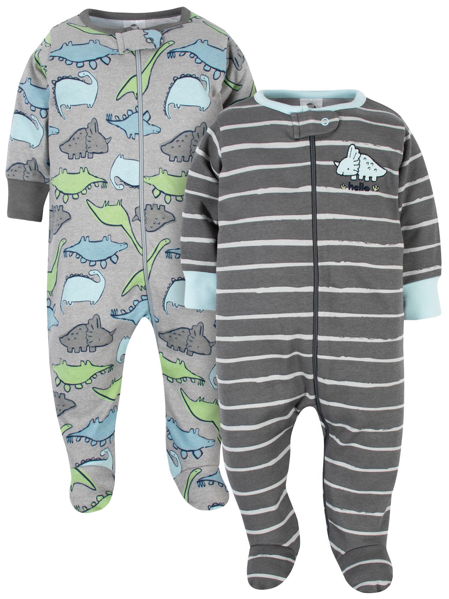 Gerber Baby Boys 2-Pack Footed Pajamas