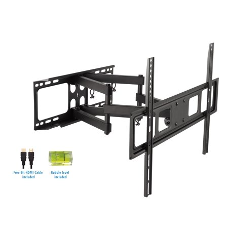 "ProHT Full Motion TV Wall Mount Combo for 37"" to 80"" With 6ft. HDMI Cable"