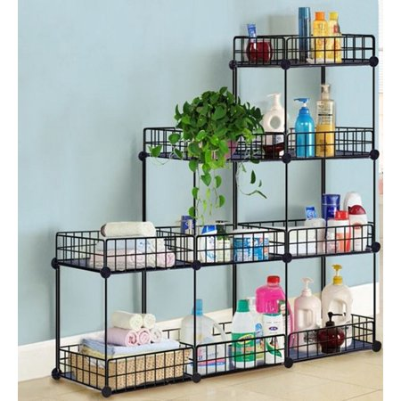 grid wire modular storage cubes no tools easy assembly. Black Bedroom Furniture Sets. Home Design Ideas