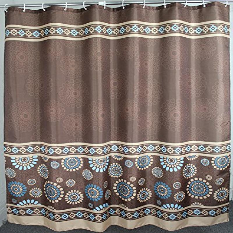 Polyester Fabric Extra Wide Shower Curtain 108 x 72 Inche...